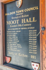 List of historic Maldon buildings outside the Moot Hall