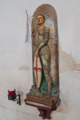 Statue of St George, chancel