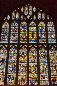 The Coronation of Mary window, given by Henry VII