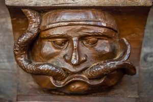 A Green Man carving