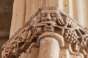 Green Man carved capital