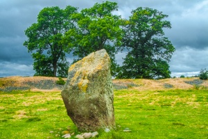 A standing stone inside the henge