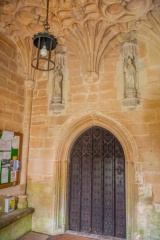 The south doorway and porch vaulting