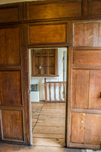 Panelled rooms on the first floor
