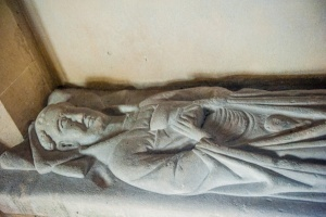 14th century effigy of a priest