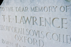TE 'Lawrence of Arabia' gravestone