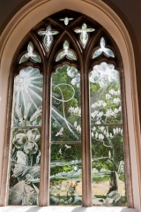 Etched glass window by Laurence Whistler
