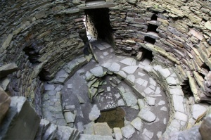 The broch interior (c) Otter