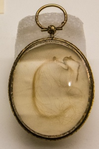 A lock of Mary Tudor's hair