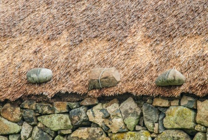 Thatched roof tie-downs