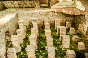 Reconstructed hypocaust system
