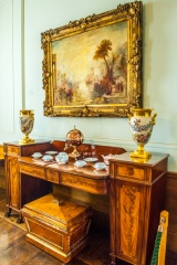 Fine furniture in the ground floor staterooms