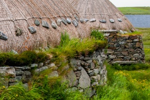 Detail of the thatch construction