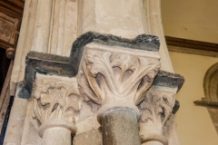 Chancel arch carved capitals