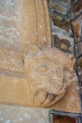 Figure of a cat, south doorway