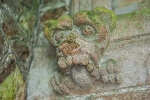 Grotesque beast carving, south doorway