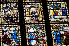 Medieval glass detail