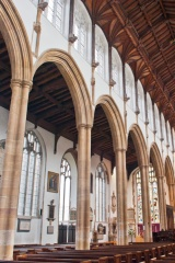 The nave arcade and clerestorey