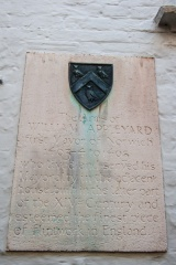 William Appleyard coat of arms and plaque
