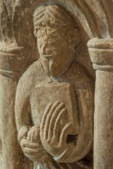 Apostle carving detail on the font