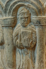 Apostle figure on the font