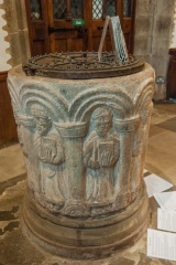 The 12th century Herefordshire School font