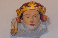 Queen Isabella carved head