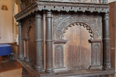 Jacobean pulpit carved panel
