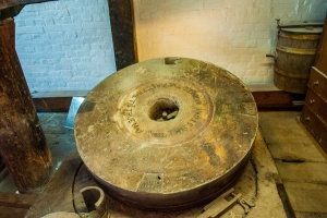 The inscribed 19th century millstone