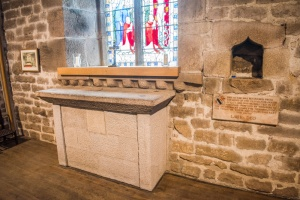 The original 15th century altar