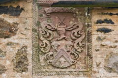 Armorial panel in Mains of Pittulie house