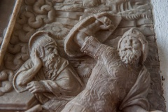 Detail of the Flemish alabaster carving