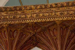 Fan vaulting and gilded cornice decoration