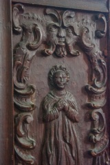 15th century bench end (note the Green Man)