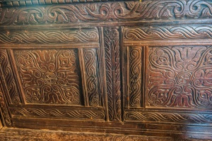 Jacobean carved seat-back