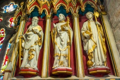 Victorian reredos carved figures