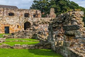 Inside the castle ruins