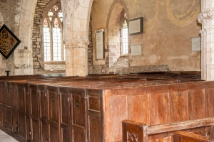 Georgian box pews in the nave
