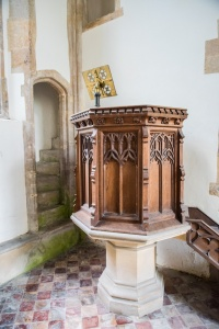 The pulpit and rood stairs