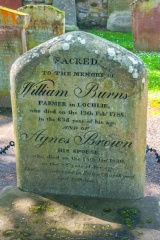 William Burns grave stone