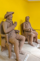 Tam O' Shanter and Souter Johnnie figures in the garden