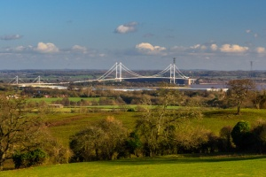 The Severn Road Bridge from Runston Chapel