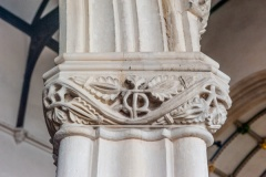 Beautifully carved nave capital