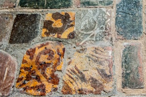Medieval floor tiles in the chancel