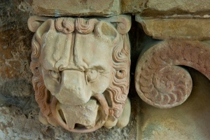 Carved lion on a Seton memorial