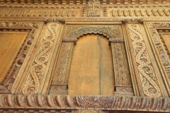 Carved overmantle panelling