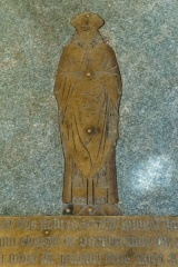 Memorial brass to Robert Scarcliff, 1412