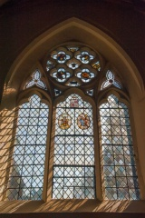 East window and stained glass
