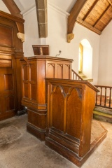 The Georgian pulpit and lectern