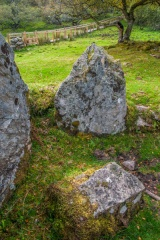 Upright stones supporting the burial chamber
